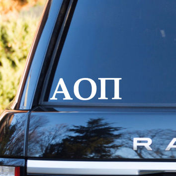 Alpha Omicron Pi Car Decal | Alpha Omicron Pi Car Sticker | Alpha Omicron Pi Sorority | Alpha Omicron Pi Laptop Decal | Greek Sticker | 170