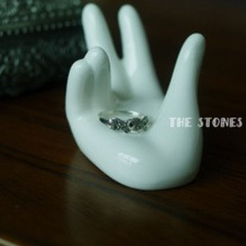 Figure 925 sterling silver made of jade exquisite retro two female Silver Marcasite Pisces fish ring