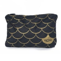 ALOHA Collection Small Mermaid Pouch - Black