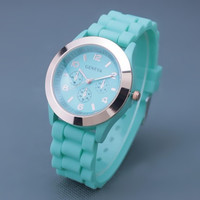 Mint Color Silicone Watch 03