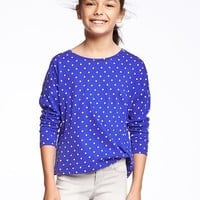 Relaxed Scoop-Neck Tee for Girls | Old Navy