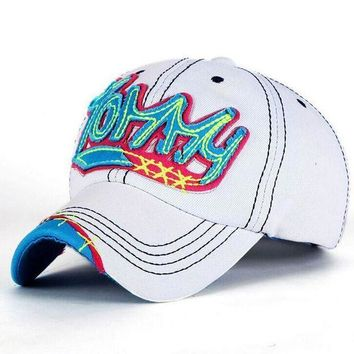 CREYG8W 1 Pcs Korea Leisure Fashion Women Baseball Caps Spring And Summer Letter TOMMY Snapback Cowboy Hat 4 Colors Free Shipping