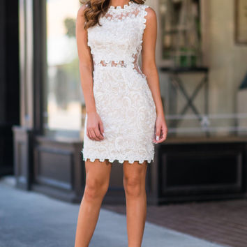 Sultry Romance Dress, White