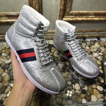 Gucci Man or Woman Fashion Edgy Sequin Casual Shoes