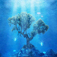 underwater tree Art Print by Viviana González