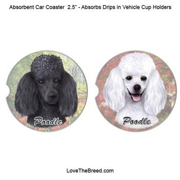 Poodle Absorbent Car Coaster