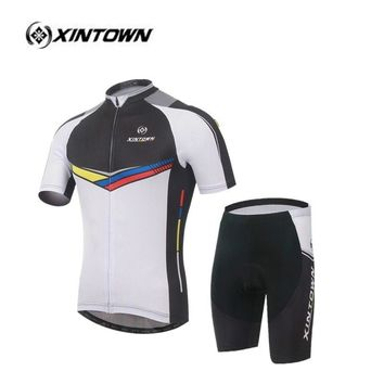 XINTOWN Bright White Sportswear ohio state jerseys Cycling clothing //Cycling jersey  Cycling dress conjunto ropa motocross