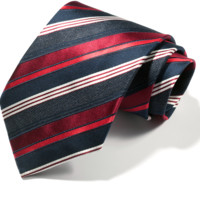 Navy and Red Stripes Tie