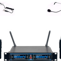 Dual UHF/DSP Hybrid Wireless Microphone System Frequency Two