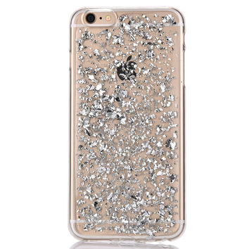 Silver Flakes iPhone Case