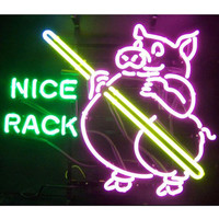 Neonetics Business Signs Pig Pool Nice Rack Neon Sign