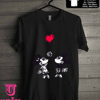 Happy Valentines Day Disney mickey minnie. T-Shirt for man shirt, woman shirt **