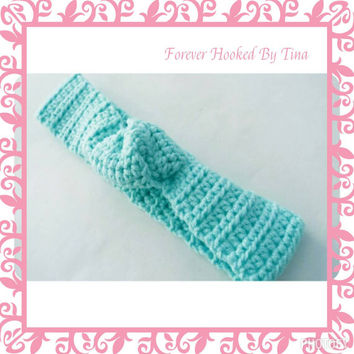 Crochet Knot Headband, Baby Accessories, Newborn Size Headbands, infant, toddler, girl, teen, women headband,  turban headbands