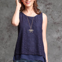 Nothing But A Memory Top - Navy