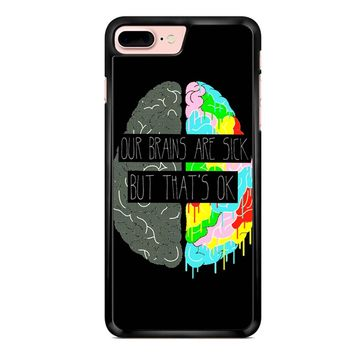 Fake You Out Twenty One Pilots Brains iPhone 7 Plus Case