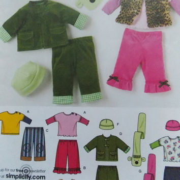 Sewing Pattern Simplicity 3582 Babies. pants, jacket or vest, knit top and fleece hat and scarf new uncut size XXS to L