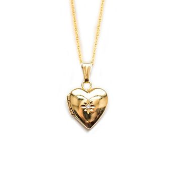 14kt Gold Filled Mini Heart Locket