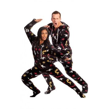 Kung-Fu, Karate Onesuit footed pajamas