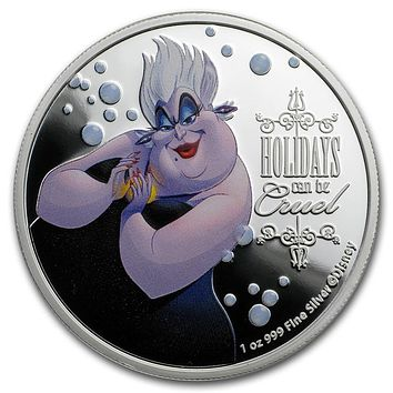 2019 Niue 1 oz Silver $2 Disney Villains Ursula