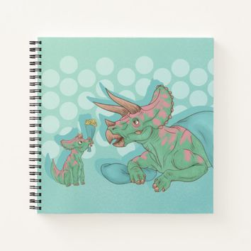 Triceratops Giving Flowers Notebook