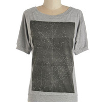 ModCloth Cosmic Mid-length Short Sleeves Pros and Constellations Tee