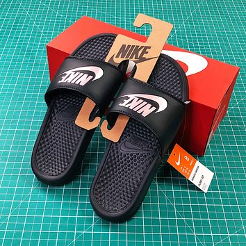 Nike Benassi Duo Ultra Slid Black Sandals - Sale