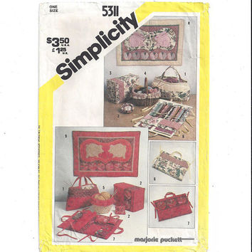 Simplicity 5311 Pattern for String Quilted Sewing Accessories & Wall Hangings, From 1981, Vintage Pattern, Home Sewing Pattern, Home Decor