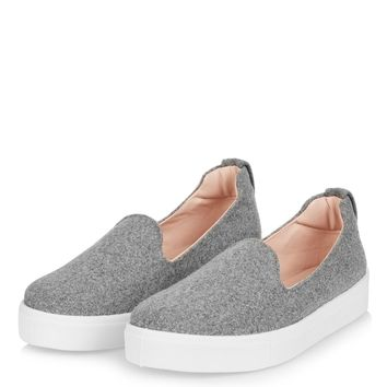TEMP Felt Slip On Trainers | Topshop