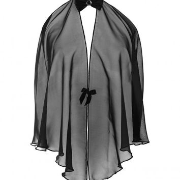 Folies by Renaud Sheer Black Cape | dolcifollie.co.uk
