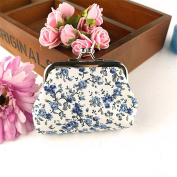 Fashion Trends women Lady Retro Vintage Flower Small Wallet Hasp Purse Clutch Bag random color small coin purse monederos 2016