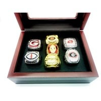 1980 2002 2003 2005 2005 2008 2018 7pcs Georgia Bulldogs Rings Set