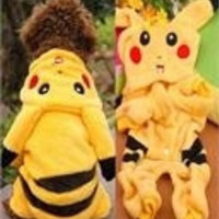 Soft New Pikachu Dog Clothes Puppy Soft Sweatshirt Slipover Costume Hoodie Coat = 1931483332