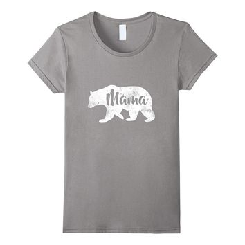 Womens Mama Bear T-Shirt Sweet Outdoors Family Tee for Mothers