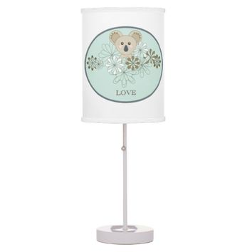 Personalized Cute Animal Table / Desk Lamps for Baby and Little Girl Bedrooms: Name Template: Gift Idea for Baby Showers and Birthdays!