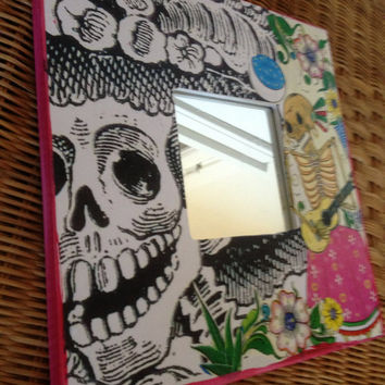 Lovely SKELETONS DAY of the DEAD  mash up Mirror