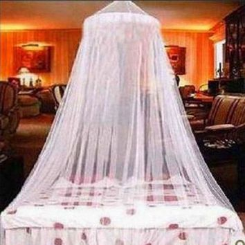 New Dome Elegent Lace Summer House Bed Netting Canopy Circular Mosquito Net White Mosquitera Malla De Mosquito