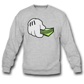 MICKEY HAND WITH CASH SWEATSHIRT CREWNECK