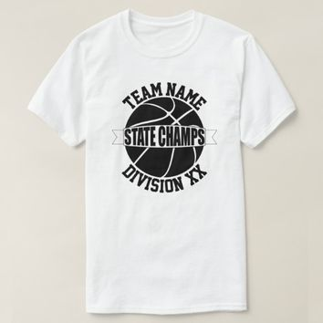 Black & White Basketball State Championship Shirts