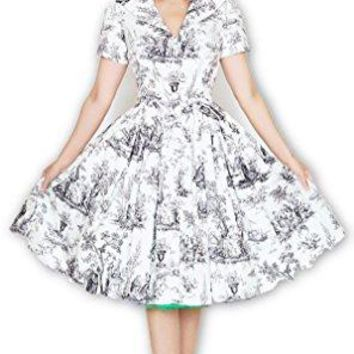 Bernie Dexter Lauren Dress Black Toile Retro Inspired