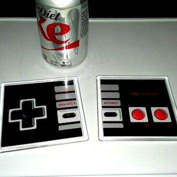 Nintendo regular original NES Controller Coaster 4 X 4 set