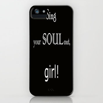 Sing your soul out, girl! iPhone Case by Armine Nersisyan