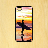 Surfer Silhouette Beach Ocean Phone Case iPhone 4 / 4s / 5 / 5s / 5c /6 / 6s /6+ Apple Samsung Galaxy S3 / S4 / S5 / S6