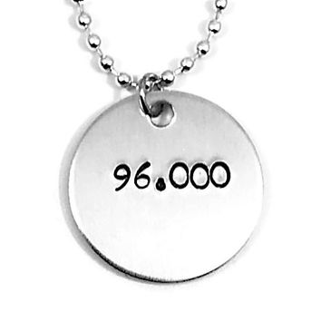 In The Heights Broadway Musical 96,000 Hand Stamped Aluminum Necklace