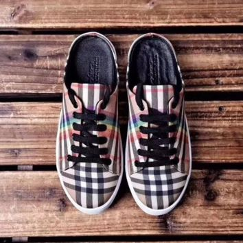 BURBERRY Rainbow Vintage Check Sneakers