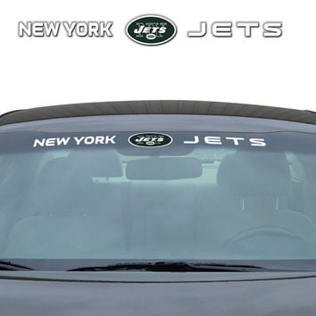 New York Jets Decal 35x4 Windshield