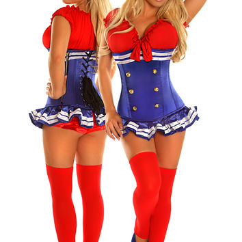 3 PC Pin-Up Sailor Girl Costume