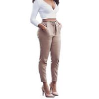 Pencil Pants For Women Solid Casual Pants