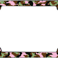Pink Camo Girl License Plate Frame