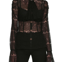 Jawbreaker Black Victorian Lace Top
