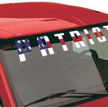 "Windshield Decal ""Patriot"""